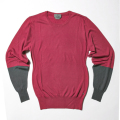 G/FORE Blocked Crew Sweater Scarlet