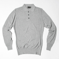 G/FORE Men's 16 Gauge Knit Polo Heather Grey