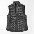 G/FORE  Women's Chevron Puff Vest Onyx Blax