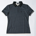 G/FORE Women's Dots Polo Black x Creme