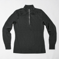 G/FORE Women's Long Sleeve Zip Up Polo Onyx Black