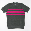 G/FORE Women's Striped Mock Charcoal