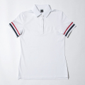 G/FORE Women's Striped Rib Polo Snow White
