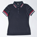 G/FORE Women's Striped Rib Polo Twilight Navy