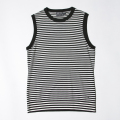 G/FORE Women's Stripe Sweater Vest Onyx Black
