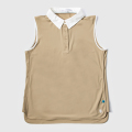 GILLES & LOEWS Women's No Sleeve Polo Shirt Khaki