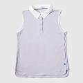 GILLES & LOEWS Women's No Sleeve Polo Shirt Lavender