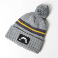 JONES Patch Beanie Grey Stripe