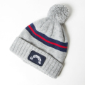 JONES Patch Beanie Light Grey Stripe