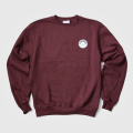 JONES Sweatshirt Circle Patch Burgundy