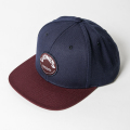JONES FLAT CAP Circle Patch Navy & Maroon