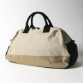 KNEE DEEP BOSTON BAG L Black x Beige