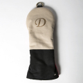 Knee Deep Driver Cover Cotton Canvas Beige x Black x Red