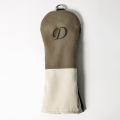 Knee Deep Driver Cover D Cotton Canvas Khaki x Ivory x Black