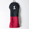 Knee Deep Driver Cover Cotton Canvas Navy x Red x White