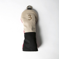 Knee Deep Fairway Wood Cover 3 Cotton Canvas Beige x Black x Red