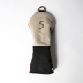 Knee Deep Fairway Wood Cover 5 Cotton Canvas Beige x Black x Red