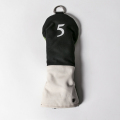 Knee Deep Fairway Wood Cover 5 Cotton Canvas Black x Ivory x Green