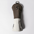 Knee Deep Fairway Wood Cover 5 Cotton Canvas Khaki x Ivory x Black