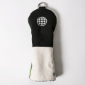 Knee Deep Fairway Wood Cover Ball Cotton Canvas Black x Ivory x Green