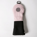 Knee Deep Fairway Wood Cover Ball Cotton Canvas Pink x Black x Grey