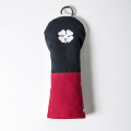 Knee Deep Fairway Wood Cover Clover Cotton Canvas Navy x Red x White