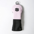 Knee Deep Fairway Wood Clover Cover  Cotton Canvas Pink x Black x Grey