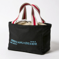 Knee Deep Round Tote Black
