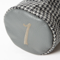 SEAMUS Driver Cover 1 Dogtooth Grey Leather