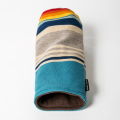 SEAMUS Driver Cover PENDLETON Turquoise Serape Stripe Tan Leather