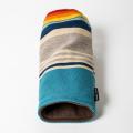SEAMUS Driver Cover PENDLETON Turquoise Serape Stripe Tan Leather