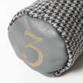 SEAMUS Fairway Wood Cover 3 Dogtooth Grey Leather