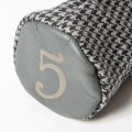 SEAMUS Fairway Wood Cover 5 Dogtooth Grey Leather