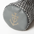 SEAMUS Fairway Wood Cover Marseille Dogtooth Grey Leather