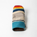 SEAMUS FW Cover PENDLETON Turquoise Serape Stripe Tan Leather