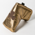 SEAMUS Putter Cover Shamrock Leather Gold