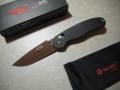 【GANZO】FB727S-BK フォールディングナイフ(ブラック)