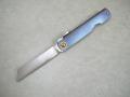 【TYSEEK】肥後守スタイルナイフ(チタニウムブルー)