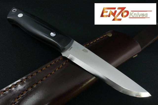 ENZO KINIVES【エンゾー】■ 「トラッパー」115 【N690Co】【ブラックマイカルタ】北欧ナイフ Trapper 【配送料無料】