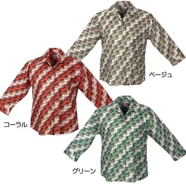 かりゆしウェア 沖縄産アロハシャツ レディース 月桃物語 月桃バイヤス柄
