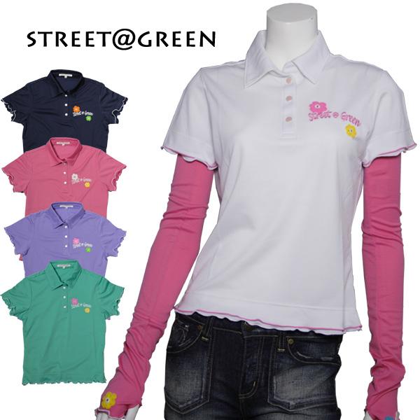 street@green フリルポロシャツ