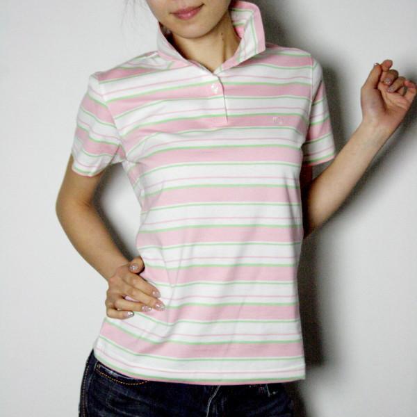 UVボーダーポロシャツ