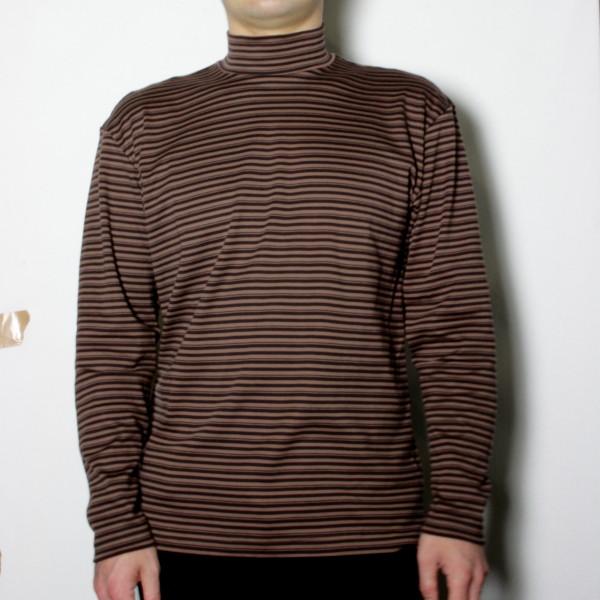 メンズスーピマ綿ハイネックTシャツ