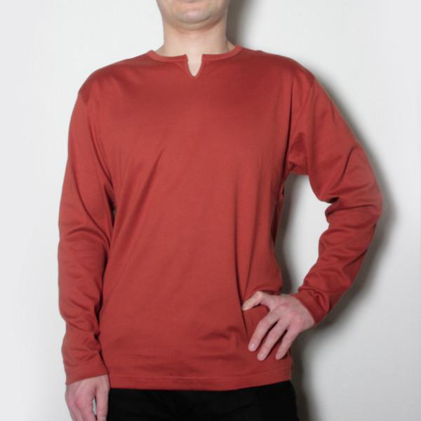 メンズスーピマ綿キーネックTシャツ