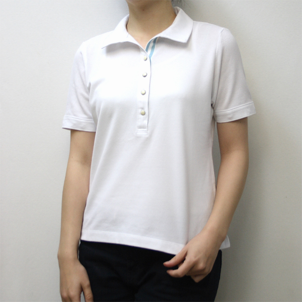 レディース UVカットアームカバー付きポロシャツ(中国製)