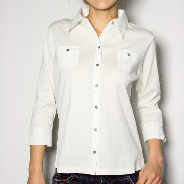 7分袖カットソーシャツ