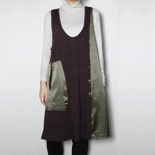 配色ジャンパースカート