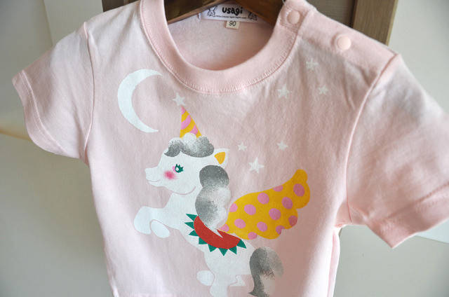 子供用Tシャツ【ペガサス】 ピンク