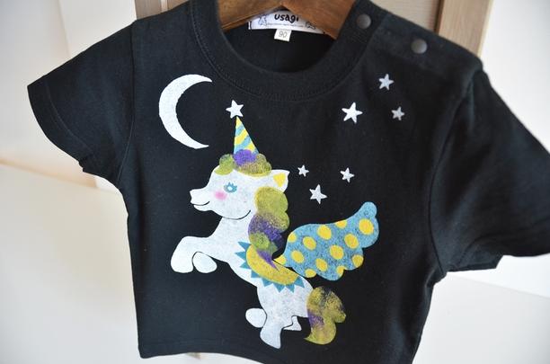 子供用Tシャツ【ペガサス】 ブラック