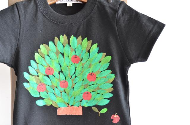 子供用Tシャツ【りんごの木】 ブラック